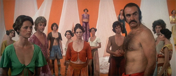 This is a still from the movie 'Zardoz' (1974) to illustrate the idea of an over-protected community living in a Bubble